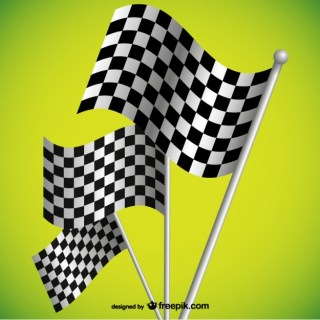 Racing Flags Background Free Vector
