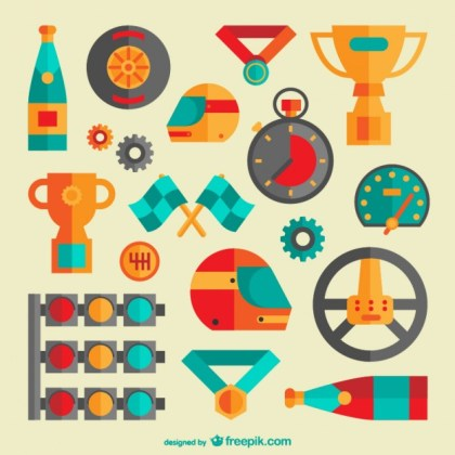 Racing Graphic Elements Free Vector