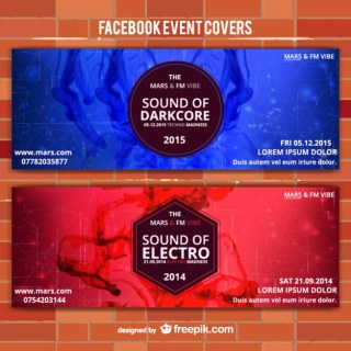 Red and Blue Event Banners Free Vector