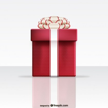 Red Gift Box Free Vector
