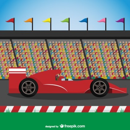 Red Racing Car Free Vector