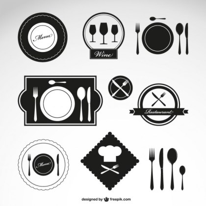 Restaurant Symbols Free Vector