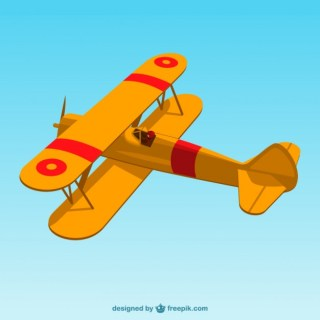 Retro Airplane Art Free Vector