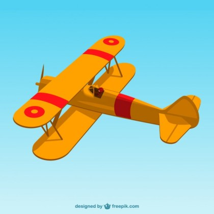 Retro Airplane Art Free Vector