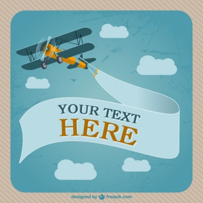 Retro Airplane Design Free Vector