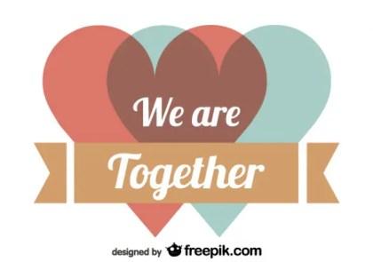 Retro Anaglyph Valentines Day Card Design Free Vector