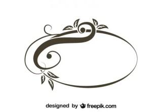 Retro Asymmetrical Oval Swirl Stylish Design Free Vector