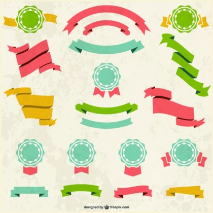 Retro Banners Badges Free Vector