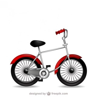 Retro Bicycle Clip Art File Free Vector