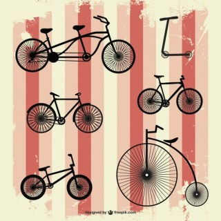 Retro Bicycle Free Vector