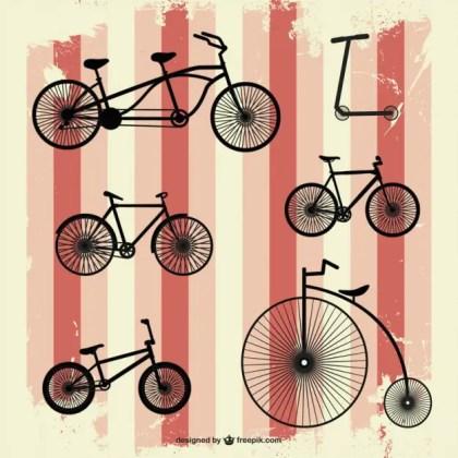 Retro Bicycle Free Vector