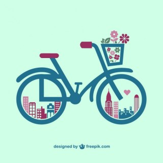 Retro Bicycle Graphics Free Vector
