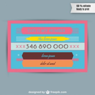 Retro Business Card Free Vector