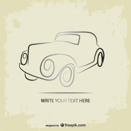 Retro Car Grunge Logo Free Vector