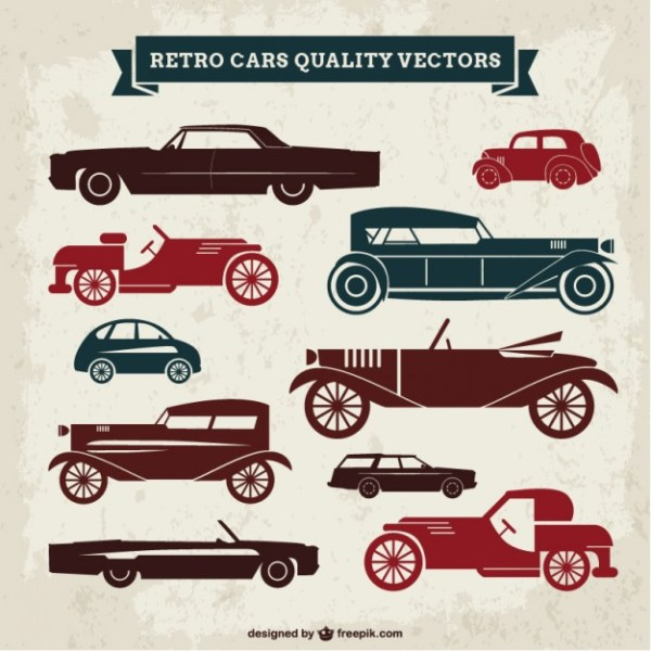 Retro Cars Quality Free Vector