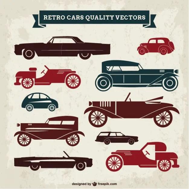Retro Cars Quality Free Vector