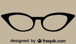 Retro Cateye Vector Glasses Icon Free Vector