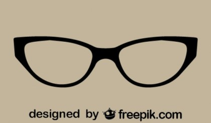 Retro Classic Cat Eye Glasses Free Vector