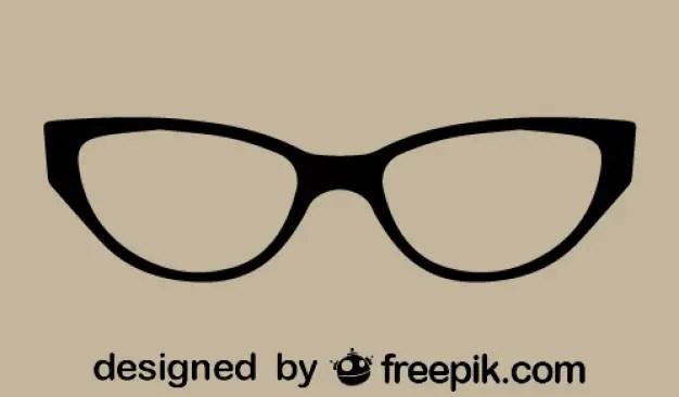 Retro Classic Cat Eye Glasses Free Vector