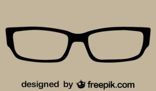 Retro Classic Glasses Free Vector