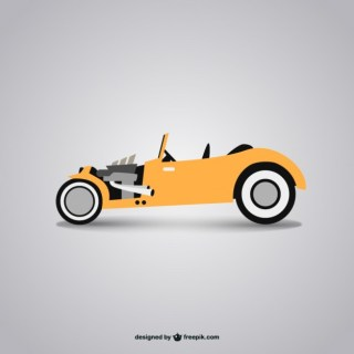 Retro Convertible Free Free Vector