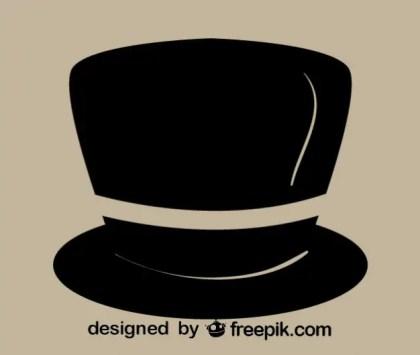 Retro Gentleman Hat Icon Free Vector