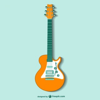 Retro Guitar Free Vector