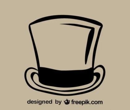 Retro Hat Outline Icon Free Vector