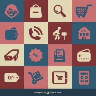 Retro Icons Free Free Vector