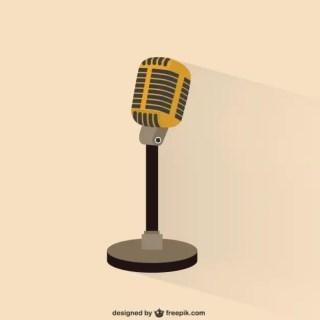 Retro Microphone Illustration Free Vector