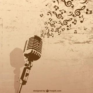 Retro Microphone Music Free Vector