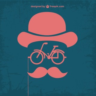 Retro Retro Hipster Bicycle Design Free Vector