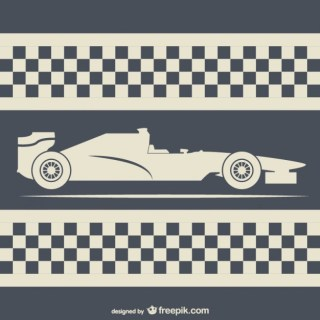 Retro Style Racing Background Free Vector