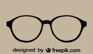 Retro Style Vector Glasses Free Vector