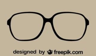 Retro Stylish Vector Glasses Free Vector