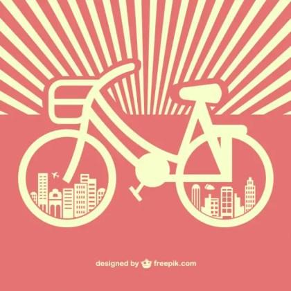 Retro Sunburst Bicycle Free Vctor Free Vector