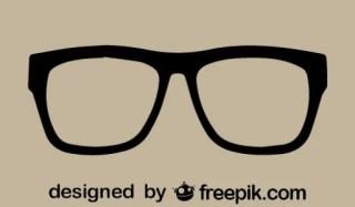Retro Vector Glasses Icon Free Vector