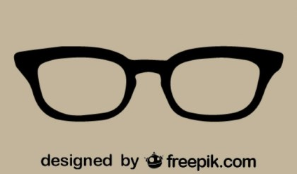 Retro Vintage Eyeglasses Icon Free Vector