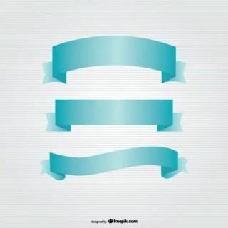 Ribbon Banners Set Free Vector