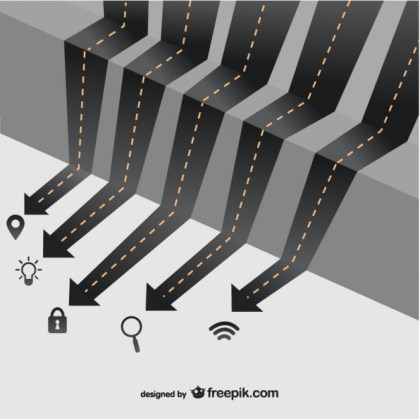 Roads Business Infographic Free Vector