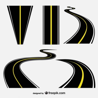 Roads Collection Free Vector