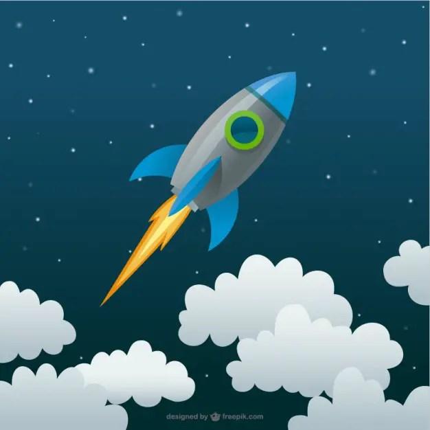 Rocket Cartoon Free Vector