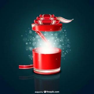 Round Gift Box Free Vector