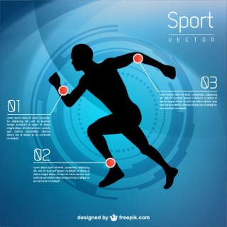 Runner Infographic Free Vector