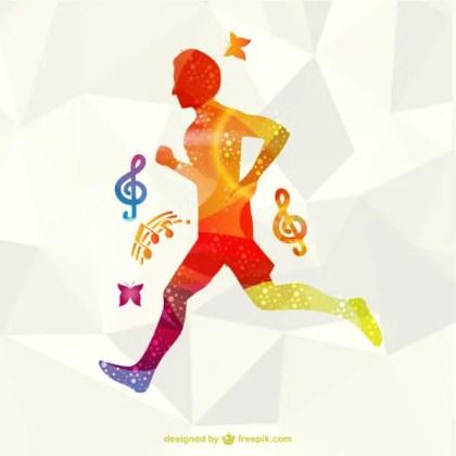 Running Athlete Free Free Vector