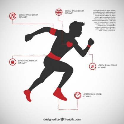 Running Man Infographic Free Vector