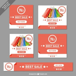 Sale Banners Collection Free Vector