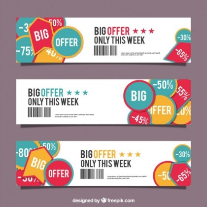 Sale Banners Free Vector