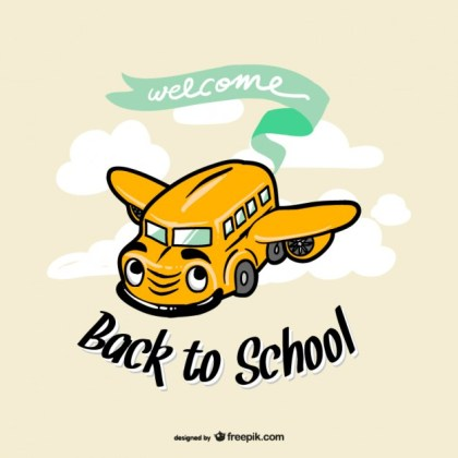 School Bus Backto to School Free Vector