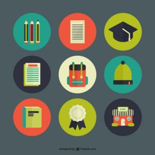 School Icon Pack Free Vector